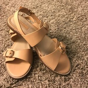 Nude sandals from Forever 21